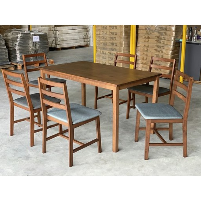 1 6 Gf Casa Dining Room Set Solid Wood Table Top