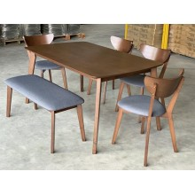 [1 + 4+BENI ]GF X2 FUSION DINING ROOM SET(SOLID WOOD)
