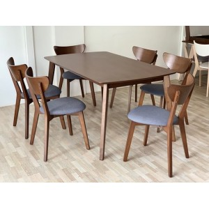 [1 + 6]GF X2 DINING ROOM SET(SOLID WOOD)