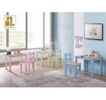 KIDS TABLE n CHAIR SET [NATURAL ]