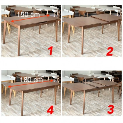 [EXT-1+6] GF X2 EXTENSION TABLE DINING ROOM SET
